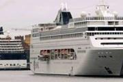 Круизные лайнеры в центре Стокгольма // svd.se