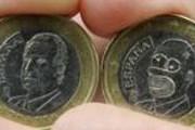 Вместо Хуана Карлоса на монете изображен Гомер Симпсон. // timesonline.co.uk