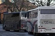 Российские автобусы на смотровой площадке Fjällgatan. // askjoh.se