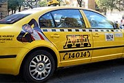 Машины обязательно должны быть желтого цвета. // aaa-radiotaxi.cz