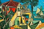 """Пабло Пикассо. """"Средиземноморский пейзаж"""". 1952 год"""
