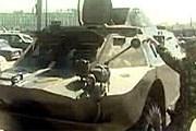 Бронированная разведывательно-дозорная машина на улицах Санкт-Петербурга // 5-tv.ru