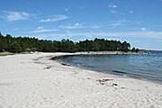 Песчаный пляж острова Ноттарё // fiabiten.blogg.se