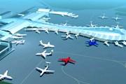 Проект нового терминала. На дальнем плане - действующий международный терминал. // vnukovo.ru
