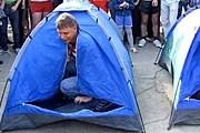 Командные гонки в палатках - одно из мероприятий парка. // foton.crimea.ua