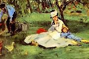 Эдуар Мане. Семья Моне в саду. 1874 год.
