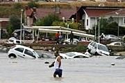 Ряд районов Стамбула оказались под толщей воды. // Reuters