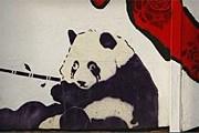 Свежий рисунок на стене дома в Бристоле. // Reuters