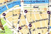 На карте обозначены все велостоянки. // velib.paris.fr