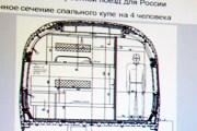 Поперечное сечение вагона потенциального спального скоростного поезда Siemens // Travel.ru