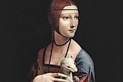 """Леонардо да Винчи. """"Дама с горностаем"""". 1488-1490."""