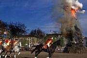 Сожжение чучела снеговика // geo-reisecommunity.de