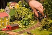 Фрагмент модели железной дороги в Техническом музее Стокгольма. // Truls Nord