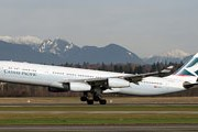 Самолет авиакомпании Cathay Pacific // Airliners.net