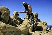На выставке можно увидеть скульптуру Далай-ламы XIV. // money.pl