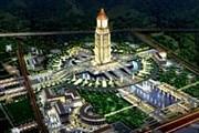 Часы установлены на башне в городском парке. // 2point6billion.com