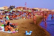 Пляжи Остии - популярное место отдыха у римлян. // wikipedia.org