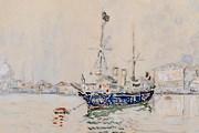 Поль Синьяк. Парусник с флагами в венецианской лагуне. 1906 год // vashdosug.ru