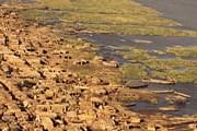 Поселок в Камеруне на берегу озера Чад // earthshots.usgs.gov