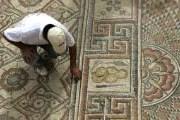 Фрагмент мозаики можно увидеть лишь в течение недели. // AP