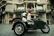 Осмотреть достопримечательности Барселоны можно на ретромотоцикле. // ridebrightside.com