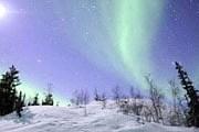 Северное сияние на Аляске // travelandleisure.com