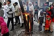 На улицах Варшавы можно будет погреться у огня. // zw.com.pl