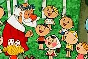 """В парке можно встретить Дедов Морозов. // Кадр из мультфильма """"Дед Мороз и лето"""""""