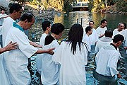 Место крещения Христа популярно у туристов и паломников. // Д. Сильверман