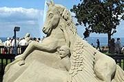 Скульптуру из песка можно самостоятельно создать в зоопарке. // helsinki.ru