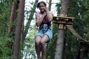 Самый длинный спуск на тросе – 115 метров. // dzd.ee