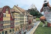 В парке - более 120 мини-моделей достопримечательностей страны. // myswiss.jp