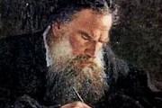 Л.Н.Толстой, портрет работы Николая Ге, 1884 год.