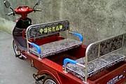Моторикши рассчитаны на четырех пассажиров. // taxi-gratuit.fr