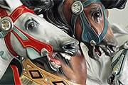 """Лошадки карусели """"Джейн"""" в Нью-Йорке // janescarousel.com"""