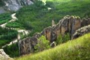 """""""Ленские столбы"""" привлекают туристов пейзажами. // istockphoto.com"""