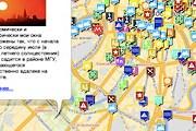 На карту нанесены известные и неизвестные объекты. // anothercity.ru