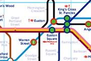 Фрагмент схемы метро Лондона // Travel.ru