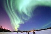 Северное сияние в темноте особенно прекрасно. // astronet.ru