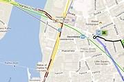 Карта поможет рассчитать маршрут. // maps.google.com