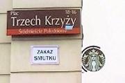 Табличка, запрещающая грустить. // kampaniespoleczne.pl