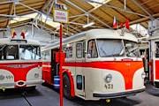 В музее представлены транспортные средства разных лет. // dpp.cz
