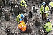Древние улицы обнаружены при строительстве в Лондоне. // MOLA