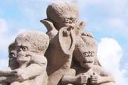 Песочные скульптуры возводятся уже десятое лето подряд. // hiekkalinna.lappeenranta.fi