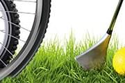 В гольф можно играть на велосипеде. // murtenseeregion.ch