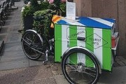 На улицах Хельсинки - информационные велосипеды. // helsinki.ru