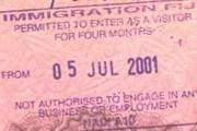 При пересечении границы бесплатно ставится штамп разрешения на въезд. // Travel.ru