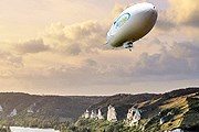 Живописные окрестности Парижа можно увидеть с высоты 300 метров. // airship-paris.fr