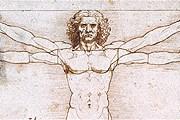 """""""Витрувианский человек"""" - самый известный рисунок Леонардо. // gallerieaccademia.org"""