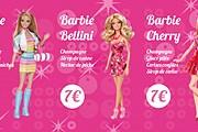"""Фрагмент коктейльной карты """"Барби-бара"""" // tout-paris.org"""